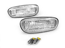 DEPO 95-01 SUBARU IMPREZA Clear JDM Side Marker Light +Chrome Amber Bulb STi WRX