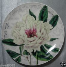 MAXWELL & WILLIAMS BOTANIC FLORALTREE PEONY  BONE CHINA PLATE PM9333 MINT GB