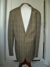CERRUTI ARTE HITMAN BROWN PLAID SPORT SUIT JACKET 44R
