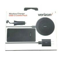 Verizon Wireless Charger Combo Pack USB C Charging Pad+Battery Pack+Chargers