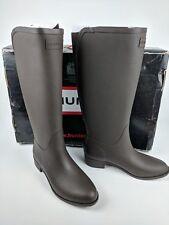 HUNTER Refined Ladies Woman's Wellington Boots Wellies Chocolate Size UK 5