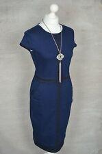 PHASE EIGHT Navy blue denim stretch pencil dress UK 12