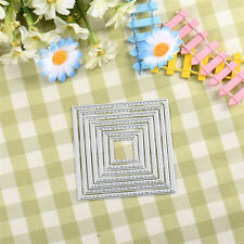NEW Metal Square Cutting Dies Stencil DIY Scrapbooking Embossing Craft Card Gift