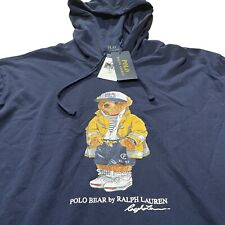 Polo Ralph Lauren CP-93 Bear Hoodie Tee T-Shirt Navy Men's Size Large New W/Tags