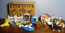 Keenway Dog World Training Academy  36 Pcs Toy Play Set Lot Retriever Dalmation