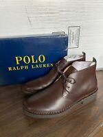 NIB Ralph Lauren Men's Polo Talan Chukka Smooth Leather Brown Boots Pick Size