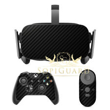 SopiGuard Carbon Fiber Skin Film Protector for Oculus Rift Headset Remote Xbox