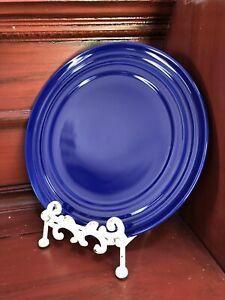 "8 Rachel Ray Double Ridge Cobalt Blue New 11"" Dinner Plates"