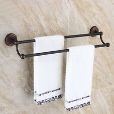 Oil Rubbed Bronze Wall Mounted Bathroom Towel Double Bar Rail Rack Holder