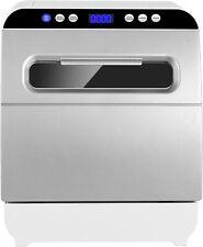 Countertop Dishwasher Portable Dishwasher Vegetable Fruit Washing Air-dry Silver