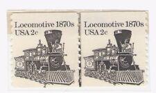 Us Scott # 1897A 2c Locomotive Coil Pair Plate #4 Mnh