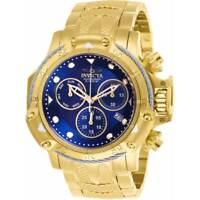 Invicta Men's Watch Subaqua Chronograph Blue Dial Yellow Gold Bracelet 26726