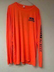 Scag 3XL Long Sleeve Orange Landscaper Shirt