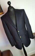 Jos A Bank Signature Collection Black Wool Blazer Jacket With Gold Buttons - 40R