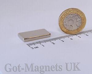 N52 25x10x3 mm Neodymium Magnet Thin Block Magnet (Various Pack Sizes)