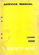 Volvo BM Wheel Loader 4300 Workshop Service Manual