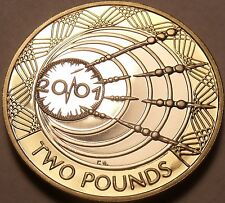Cameo Proof Great Britain 2001 2 Pounds~Marconi First Radio Transmission~Free Sh