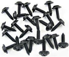 "Ford Black #8 x 5/8"" Phillips Flat Top Trim Screws- 25 screws- #200"