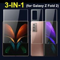 Für Samsung Galaxy Z Fold 2 5G, 3in1 Full Cover Hydrogel Soft Displayschutzfolie