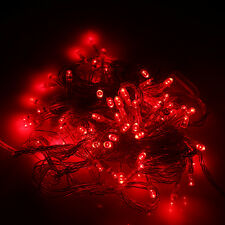 10m 100pcs Outdoor LED Light String Lights Red Christmas Xmas Decoration