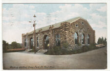 Waiting Station Como Park Minneapolis Minnesota 1907 postcard