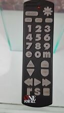 One For All Large Button Universal Remote Control Tested Working