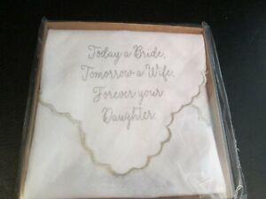 Bride to Parent Wedding Sentiment Handkerchief by Mud Pie, New