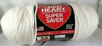 Red Heart Yarn Super Saver Soft White Crochet Worsted Knit Craft