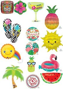 Tropical Luau Summer Helium Balloons Beach Party Ware Decoration Anagram