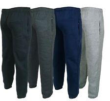 MENS FLEECE JOGGERS JOGGING TRACKSUIT BOTTOMS ELASTICATED CUFFED TROUSERS S 6XL