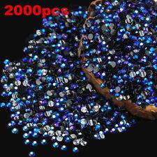 2000Pcs 3D Round AB Rhinestone Acrylic Nail Art Glitter Crystal Decorations 2mm