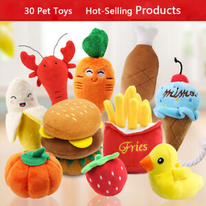 Pet Dog Cat Sound Toys Funny Chew Squeaker Squeaky Durable Plush Toy for Puppy