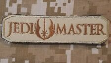 JEDI MASTER ARMY TAB USA ISAF MORALE DESERT HOOK PATCH