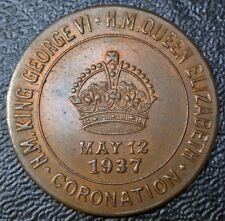 "1937 CORONATION George VI & Elizabeth - GOOD LUCK TOKEN ""THE LIONS CLUB"" Sarnia"