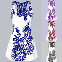 Womens Summer Lace Crochet Tee Sleeveless Vest T-Shirts Blouse Casual Tank Tops