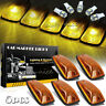 5pcs Roof Cab Marker Light Amber Yellow + T10 12V LED for GMC Chevy C1500-3500