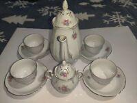 GKC Vintage Porcelain Tea Set US Zone Germany 12 Piece Demitasse