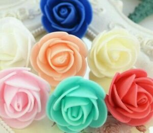 PACK OF 200 MINI 3CM FOAM ROSE MANY COLOUR FLOWERS WEDDING PARTY DECOR ROSES
