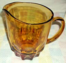 VINTAGE AMBER GLASS BAR BEER PITCHER