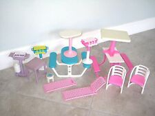 Vintage BARBIE Doll Table Chair Propane BBQ Picnic Lot 1980s 1990s Toy USED