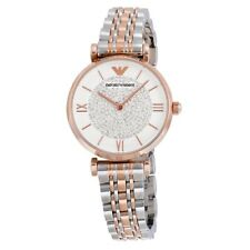 Emporio Armani AR1926 Womens White Dial Analog Quartz Watch
