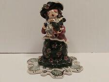 Blue Sky Clayworks Victorian Girl Christmas Caroler Heather Goldminc Tea Light