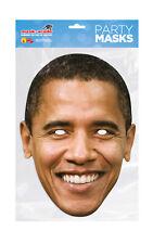 Barack Obama Face Party Mask Card A4 Fancy Dress President USA Ladies Men Kids