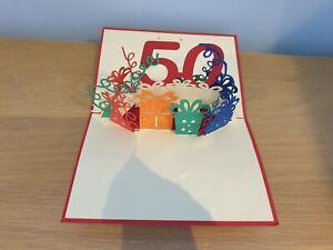3d Popup Happy 50th Birthday Card