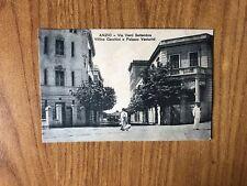CARTOLINA ANZIO VIA VENTI SETTEMBRE PALAZ VENTURINI VIAGGIATA 1912 SUBALPINA AB