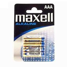 Maxell pila alcalina 1.5v tipo AAA Pack4