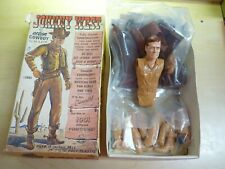 VINTAGE JOHNNY WEST ACTION FIGURE WITH ORIG BOX MARX COWBOY 2062 ACCESSORIES