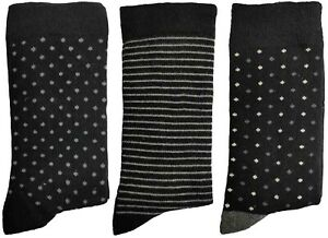3 Pairs of Ladies JA17 Patterned Cotton Socks by Jennifer Anderton , UK Size 4-8