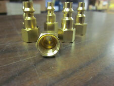"""LOT OF 50 ~ SOLID BRASS AIR FITTINGS 1/4"""" NPT FEMALE FITS MILTON TYPE M COUPLER"""