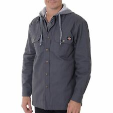 XL Men's DICKIES MOCK LAYER HOODED JACKET Quilted Lined Tough Work wear $55